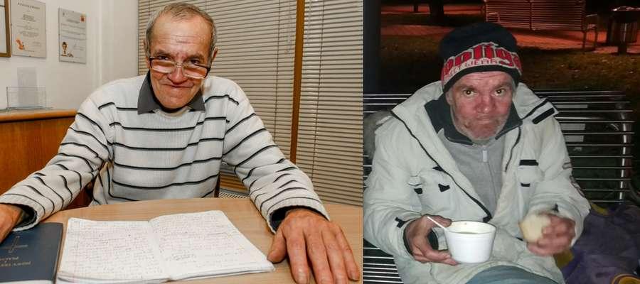 Po prawej pan Grzegorz podczas spotkania bezdomnych na dworcu w Elblągu. Dziś on sam, jak i jego życie wyglądają już zupełnie inaczej