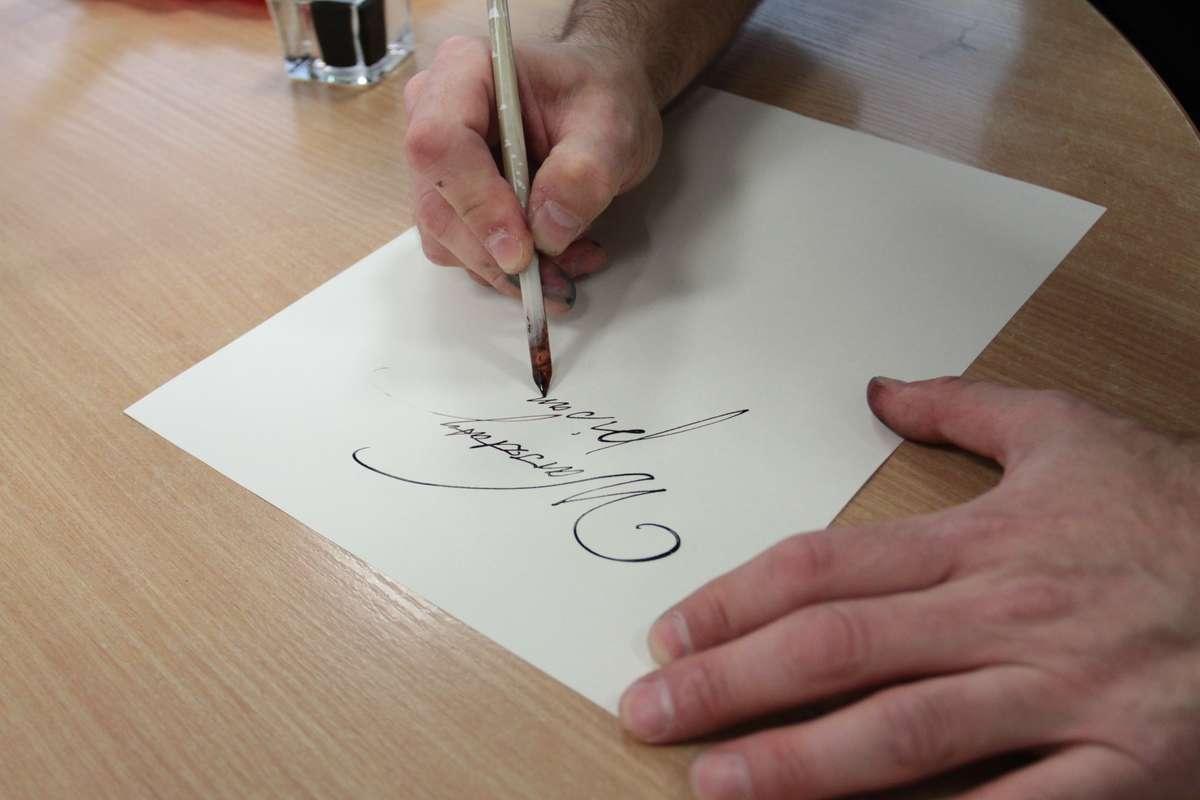 Pisanie piórem, pisanie - full image