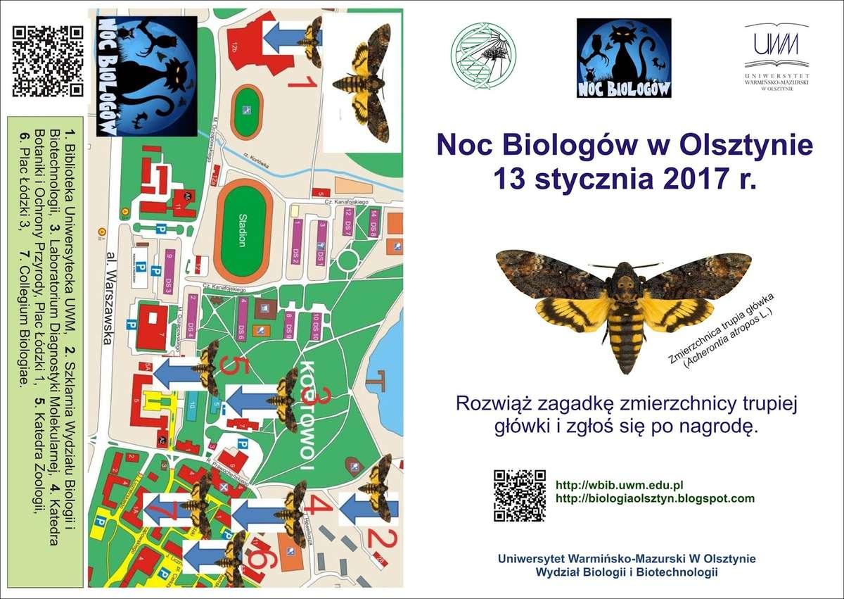 Okładka gry, opracowanej specjalnie na olsztyńską Noc Biologów 2017 - full image