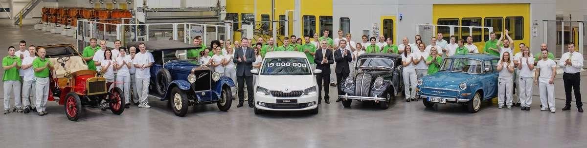 19-milionowy samochód Skody - full image