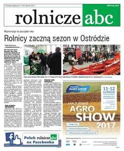 Rolnicze ABC - styczeń 2017