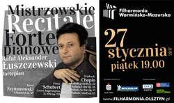 Mistrzowski Recital Fortepianowy w Filharmonii – Chopin, Schubert, Szymanowski