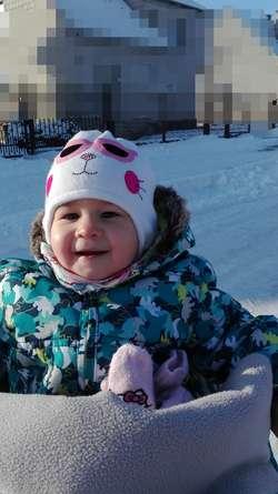 Zuzanna Wichowska, zam. Rozogi, wiek 14 miesięcy