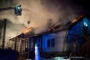 Nocny pożar domu w Lipowie