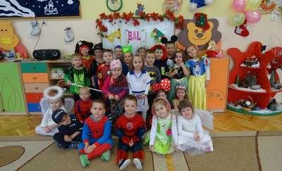 Zabawa karnawałowa w Przedszkolu Krasnal w Olecku