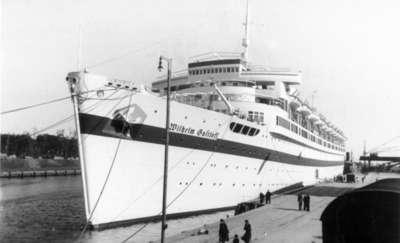 Na statku Wilhelm Gustloff  utonęło w 1945 roku wielu  dawnych mieszkańców Ostródy
