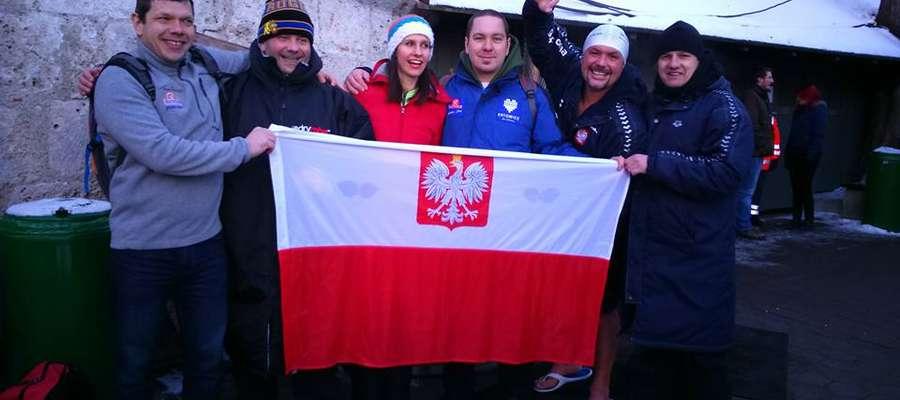 Reprezentacja Polski na mistrzostwach świata, drugi z prawej Marcin Trudnowski