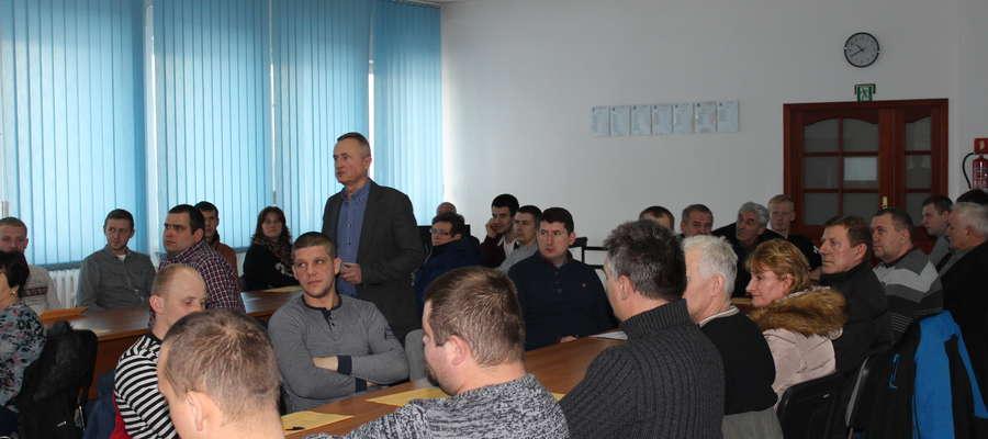 W styczniu odbyło się juz 9 szkoleń.  Na zdjęciu rolnicy z gminy Żuromin