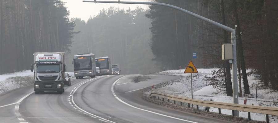 Odcinkowy pomiar prędkości  Olsztyn-Gietrzwałd-odcinkowy pomiar prędkości na trasie do Gietrzwałdu