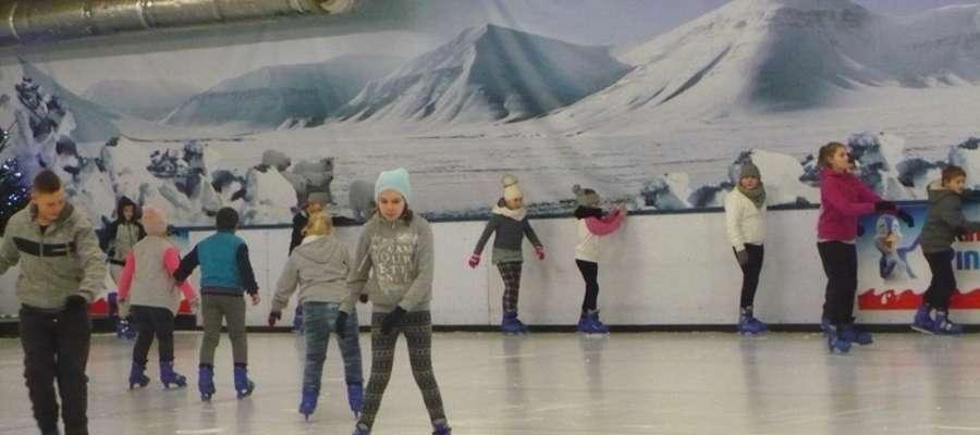 Największą atrakcją była zabawa na lodowisku