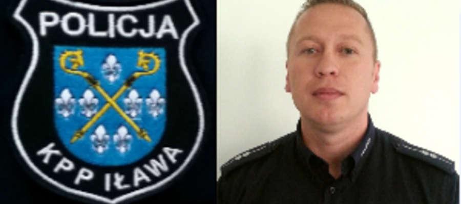 """Asp. Łukasz Krupiński, kierownik kisielickiego posterunku policji zatrzymał pijanego  kierowcę ciężarówki, który jechał """"wężykiem"""""""
