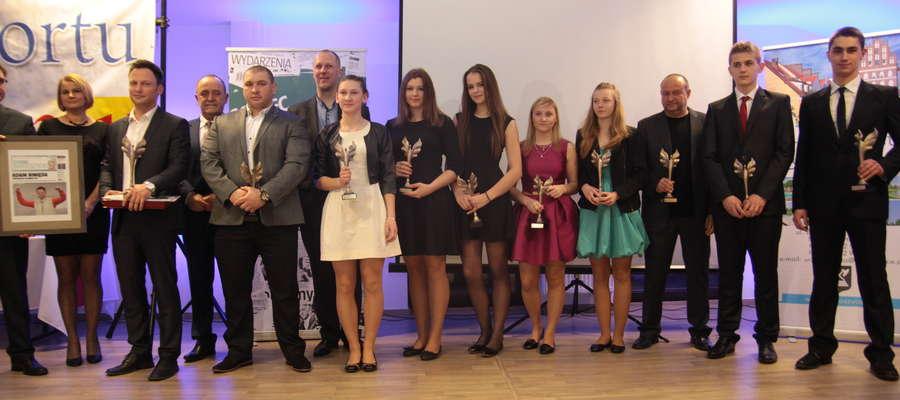 Laureaci ubiegłorocznego plebiscytu na 10 Najpopularniejszych Sportowców Bartoszyc
