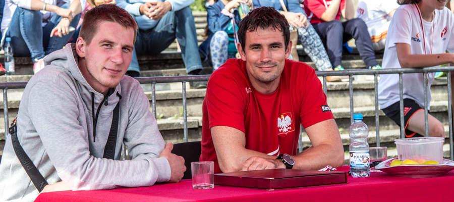 Marek Daćko i Marcin Lijewski w Bartoszycach