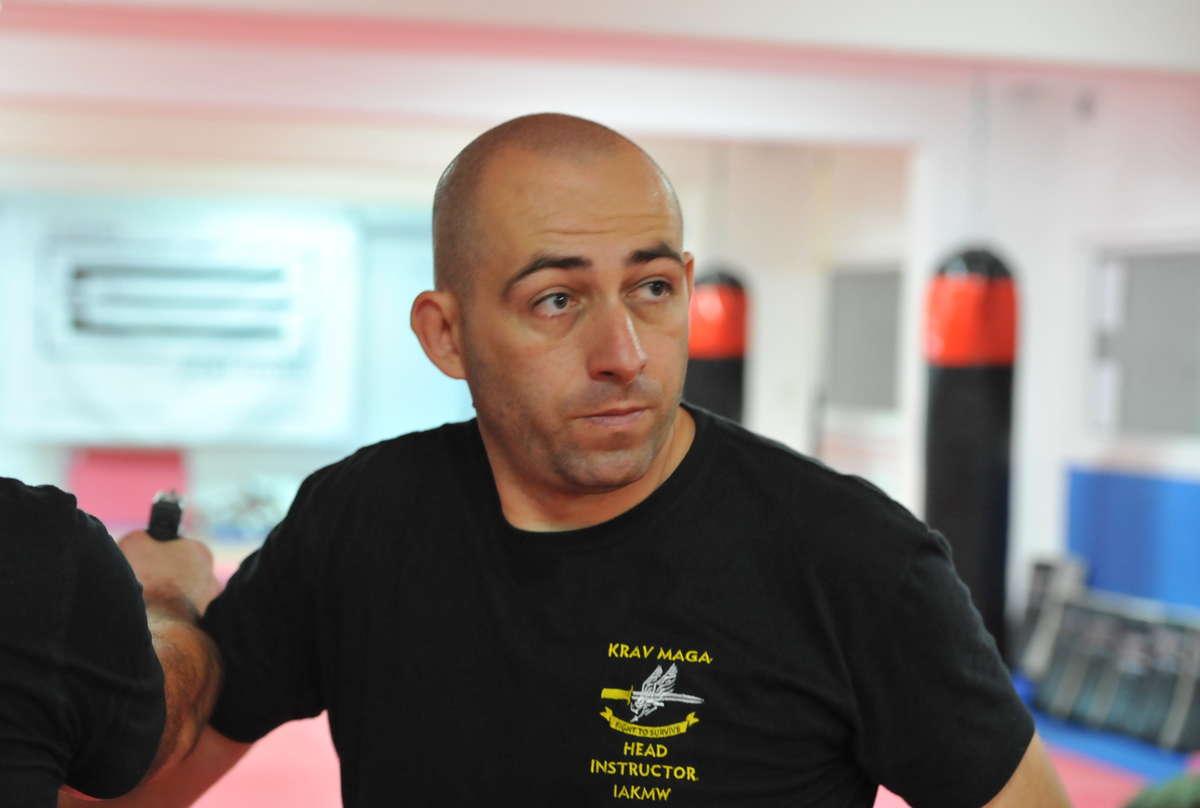 Tomasz Dembiński, organizator GNG, w czasie jednego z treningów