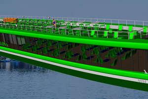 Budują największy i najszybszy statek na Mazurach. Obejrzyj film!