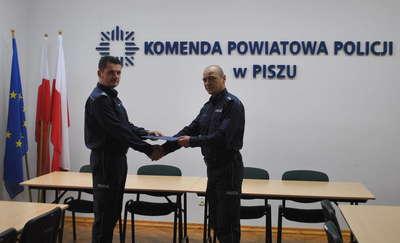 Grzegorz Kobeszko nowym komendantem Komisariatu Policji w Orzyszu