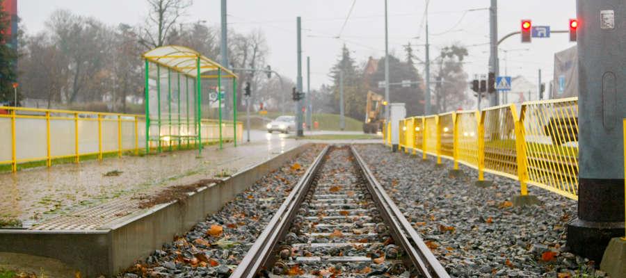 Torowisko tramwajowe w Elblągu