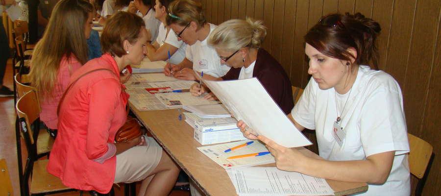 Podczas rejestracji dawców szpiku w nowomiejskim gimnazjum