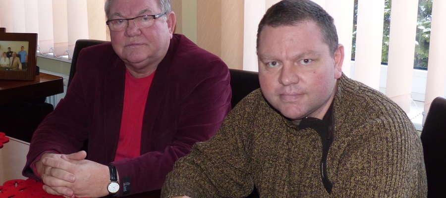Mieczysław Czajkowski, właściciel firmy, senior rodziny (z lewej) i Adam Czajkowski, dyrektor odpowiedzialny m.in. za pozyskiwanie dotacji unijnych