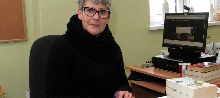 Jolanta Bruj od 1991 r. prowadzi filie biblioteczną w Wozławkach
