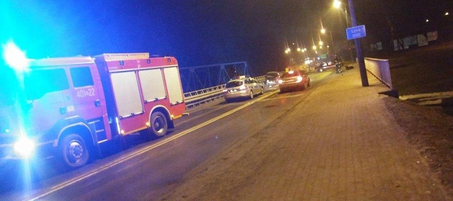 Najpoważniejszym zdarzeniem dla strażaków było zderzenie dwóch samochodów na moście w Bartoszycach.