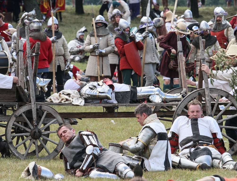 Inscenizacja bitwy pod Grunwaldem w 2015 roku - full image