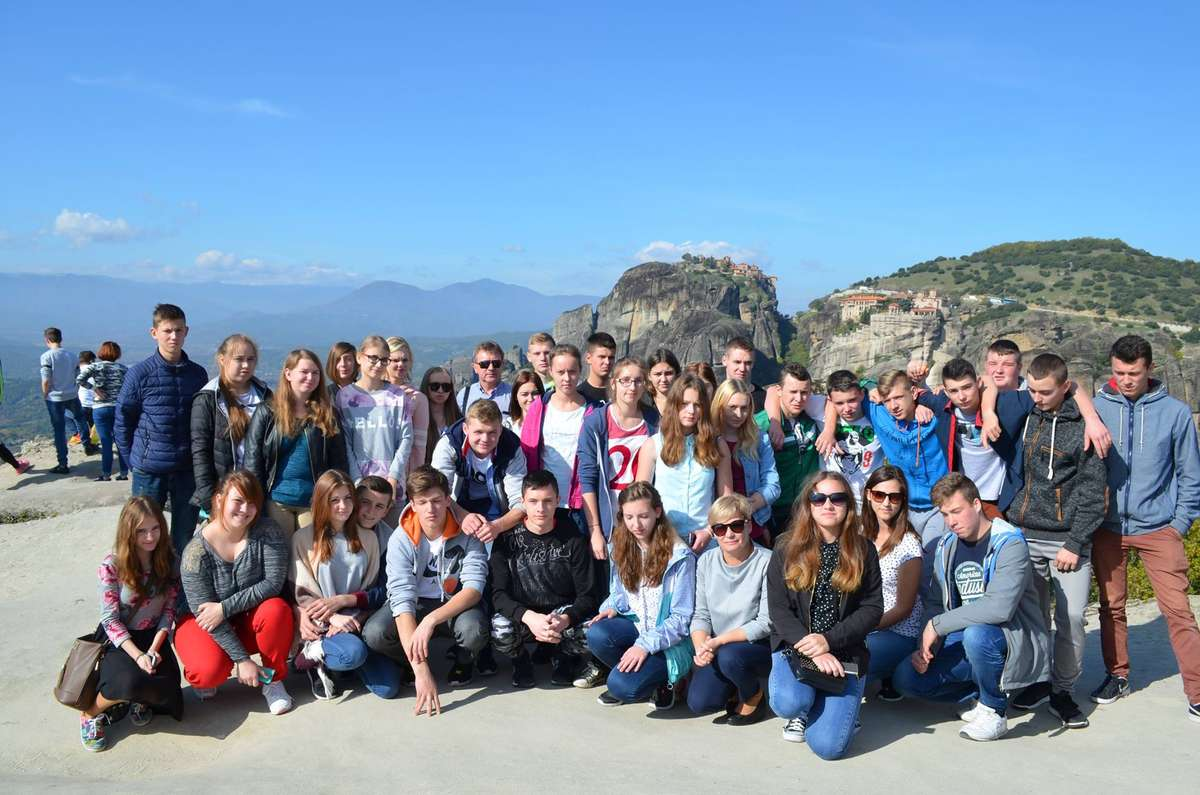 Uczniowie ZS im. Żołnierzy Armii Krajowej w Grecji