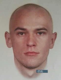 Portret pamięciowy poszukiwanego pedofila.