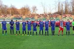 Olsztyńscy piłkarze nie przegrali tej wiosny żadnego z pięciu wyjazdowych spotkań, mimo że w czterech przypadkach (Katowice, Bielsko-Biała, Legnica, Tychy) musieli gonić wynik Fot. Krzysztof Piekarski