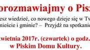 """""""Porozmawiajmy o Piszu"""" - burmistrz zaprasza mieszkańców"""