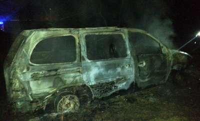 Palił się samochód osobowy w Żelaznej Górze