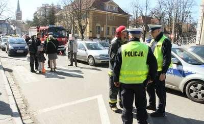 Potrącenie pieszego na Placu Pułaskiego w Olsztynie