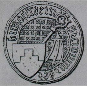 Najstarsza pieczęć miejska Bisztynka z końca XIV wieku.