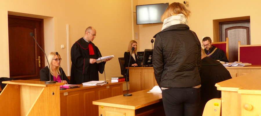 Katarzyna W przed braniewskim sądem