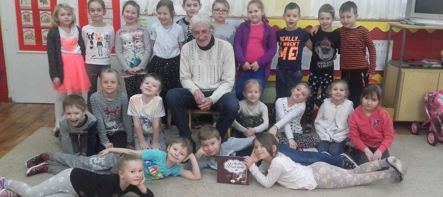 Dzieci z przedszkola Kubuś w Mrągowie