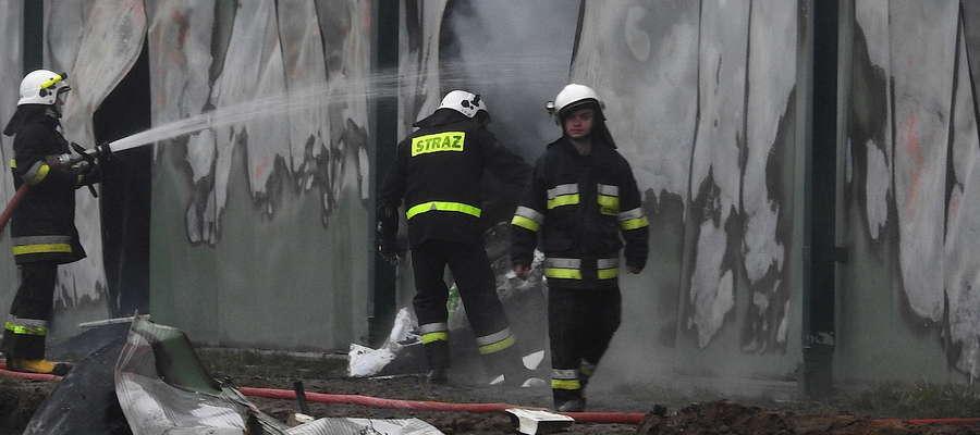 Akcja gaszenia ognia w Boleszynie