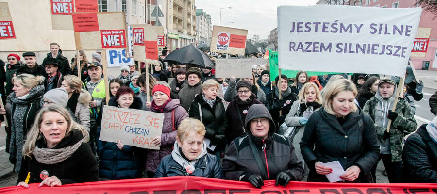 Międzynarodowy Strajk Kobiet - Elbląg