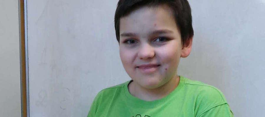 Jakub Puzio z Gimnazjum nr 1 jest stypendystą Krajowego Funduszu na rzecz Dzieci