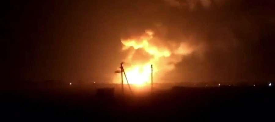 Płonie największy skład amunicji na Ukrainie