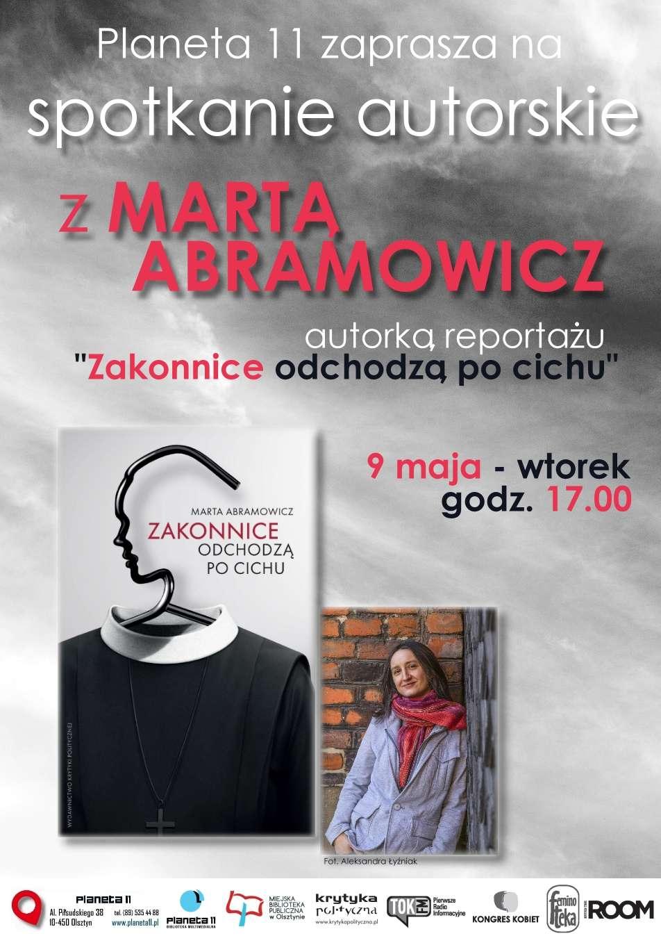 """Spotkanie z Martą Abramowicz, autorką reportażu """"Zakonnice odchodzą po cichu"""" - full image"""