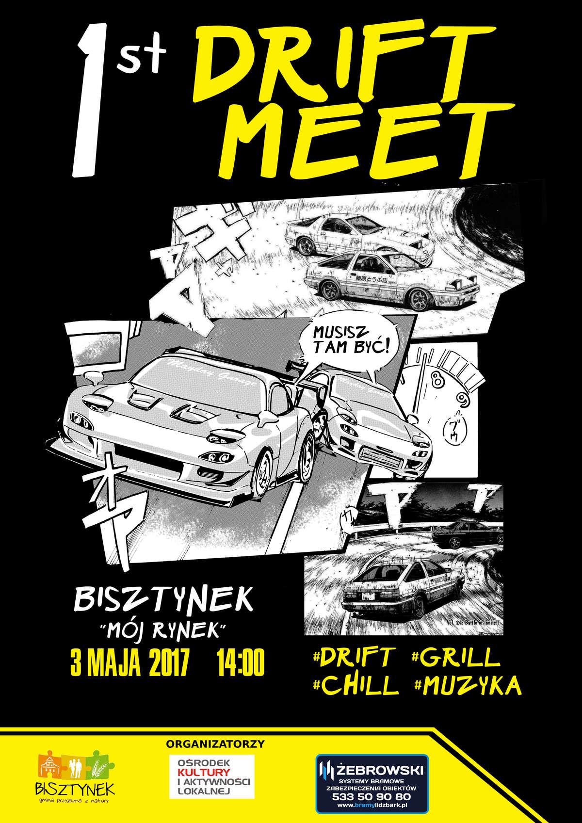 Pierwszy Drift Meet w Bisztynku - full image