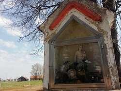 Kapliczka w Krokowie, przy drodze Jeziorany - Lamkowo