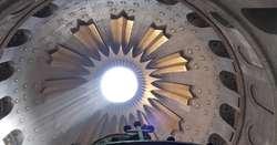 Kopuła Bazyliki Grobu Świętego w Jerozolimie. Świątynia stoi w miejscu męki, ukrzyżowania, złożenia do grobu i zmartwychwstania Jezusa Chrystusa.
