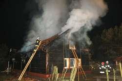 OSP jest zwykle pierwsza na miejscu pożaru