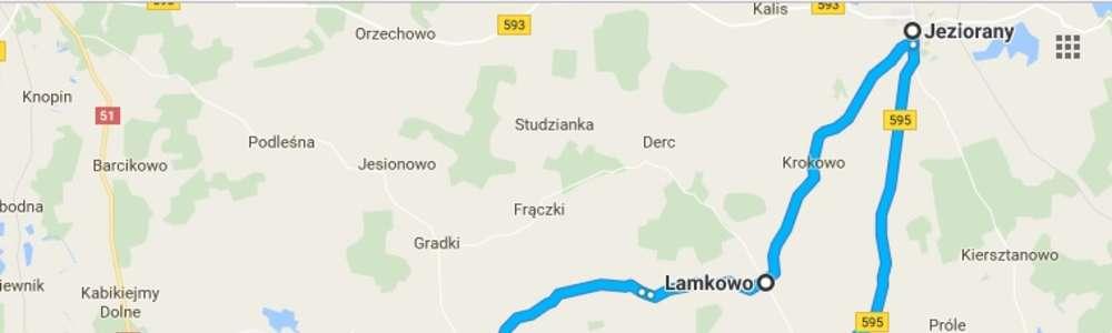 Olsztyński szlak rowerowy: Olsztyn - Barczewo - Jeziorany - Tuławki - Olsztyn