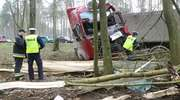 Wypadek na wyjeździe z Olsztyna. Ciężarówka cudem minęła auto osobowe