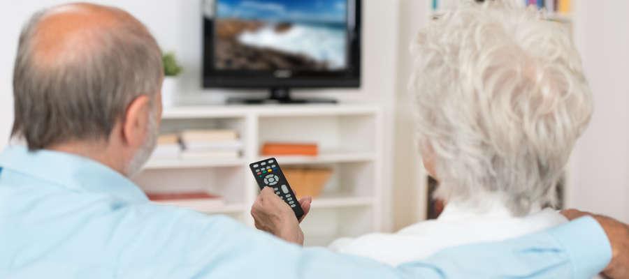 starość przed telewizorem