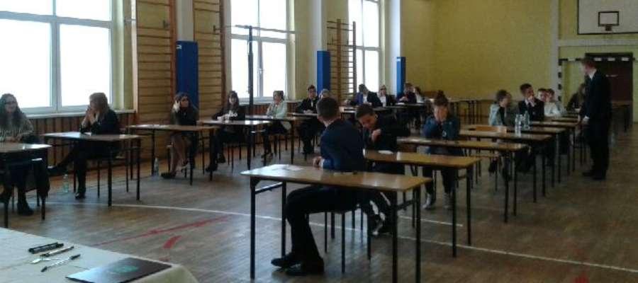 — Humory dopisywały, ale tylko przed wejściem na salę — relacjonowała Edyta Pawlaszek z gimnazjum w Korszach.