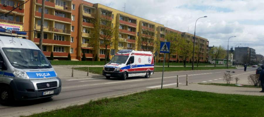 Do potrącenia doszło we wtorek 11 kwietnia na ul. Wiejskiej w Iławie. Na szczęście kobieta nie miała groźnych obrażeń