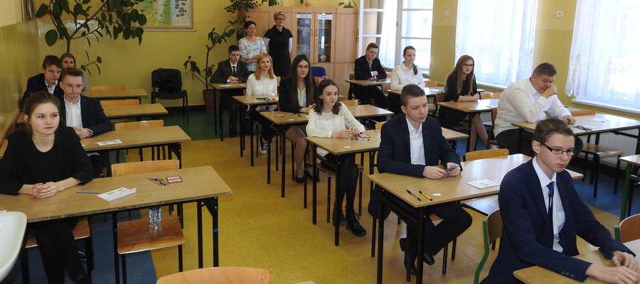 Ostatnie chwile przed egzaminem w nowomiejskim gimnazjum